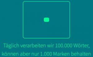 100.000 Wörter, aber nur 1.000 Marken